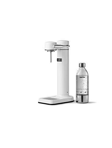 Machine à eau pétillante Aarke Carbonator 3 avec boîtier en acie finition Blanc r inoxydable et...