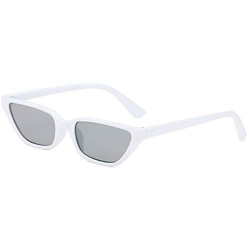 Taiyangcheng Gafas de Sol Cat Eye Gafas de Sol pequeñas para Mujer Leopardo Negro,Gris Blanco