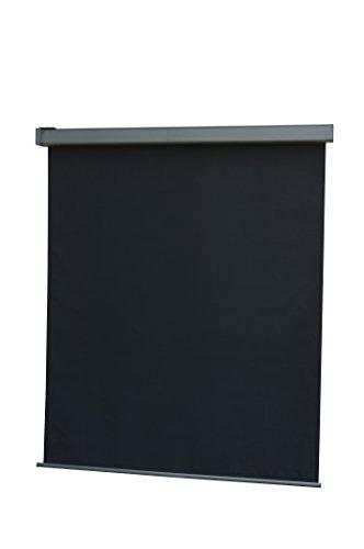 LECO 24500114 - Tenda Per Balcone/Giardino In Alluminio E Poliestere, 200 X 120 Cm, Colore: Grigio Scuro