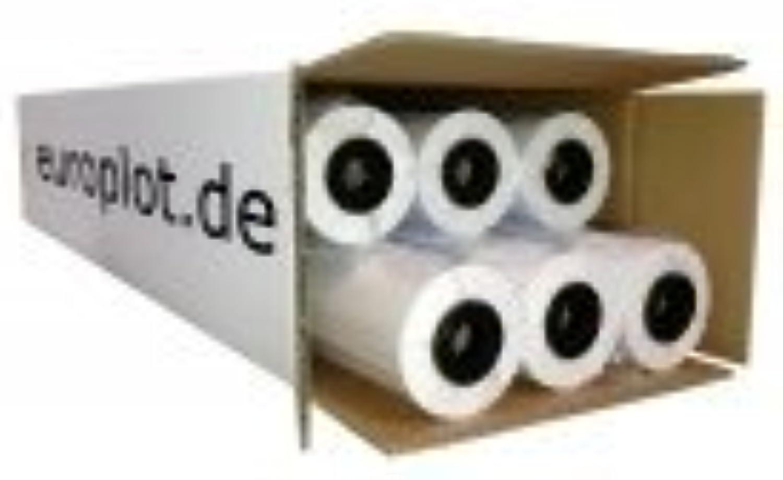 (0,23€ m²) Plotterpapier ungestrichen, 6 Rollen   80g m², 594mm b, 50m l B00LVRA7EA | Preisreduktion