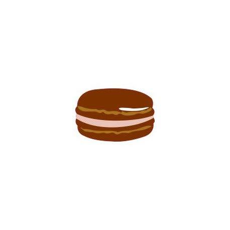 Macaron stickers voor koffie, chocolade, zelfklevend 12 cm