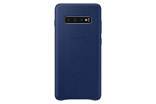 Samsung Galaxy S10+ Leather Back Case, Navy