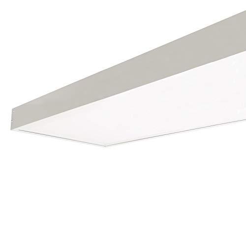 LEDKIA LIGHTING Panel LED 120x30cm 40W 4000lm + Kit de Superficie Blanco Frío 5500K - 6000K