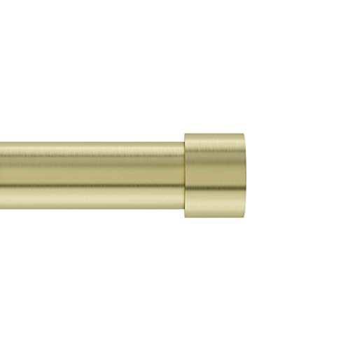Umbra 245977-104 Cappa 1-Inch Curtain Rod, Includes 2 Matching Finials, Brackets & Hardware, 120 to 180-Inches, Brass