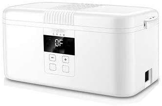 Recalentar alimentos fiambrera portátil de vapor eléctrico para el calentamiento de almacenamiento con 2 porcelana blanca revestimiento desmontable School Travel Bureau