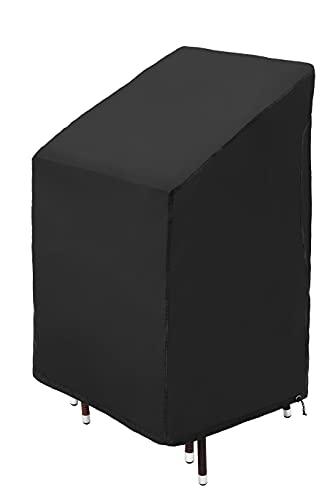 GardenMate Oxford Polyester Schutzhülle für Gartenstühle 65 x 65 x 80/120 cm - ANTHRAZIT/SCHWARZ - Premium Qualität aus hochwertigem Oxford Polyester Material