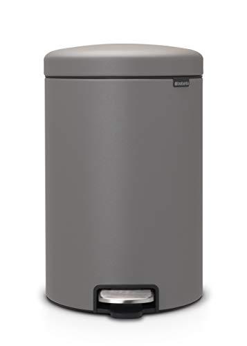 Brabantia - 119163 - Poubelle à pédale newIcon, 20L, Mineral Concrete Grey