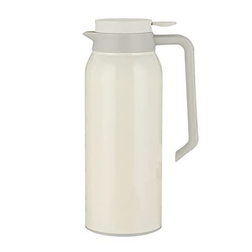 Jarra de vacío aislada de 2 litros, olla de café con doble pared de acero inoxidable, dispensador de agua caliente, libre de goteo, con botón de pulsación superior, BPA gratis, para café, té, bebidas