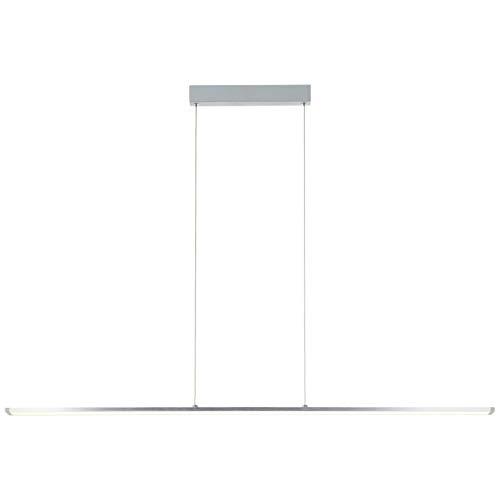 BRILLIANT lamp Lámpara colgante LED de entrada Panel 120cm aluminio/blanco easyDim  1x LED de 22 W integrado, (2420lm, 3000K)  Escala A ++ a E  Ajustable en altura/cable se puede acortar
