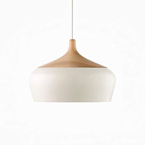 DDeng LPZ Arana - Aluminio lampara del Dormitorio de Estar Estudio Comedor Mesa de Madera Avellana LED lampara de arana LPZV (Color : White)