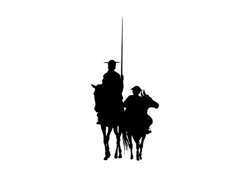 Oedim Pack 5 Pegatinas Coche Don Quijote 15x30cm | Adhesivo de Facil Colocación | Pegatina para Coche Económica y Resistente