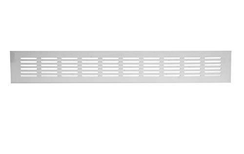60x300mm Aluminium Lüftungsgitter Weiß Stegblech Lüftung Alu-Gitter Gitter Möbelgitter Möbellüftung