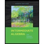 Intermediate Algebra by Lial,Margaret  Hornsby,John  McGinnis,Terry [2009,9th Edition.] Paperback
