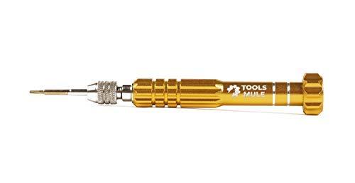 Tools Mule 5-in-1 Eyeglass Repair Kit, Small Precision Jewelers Screwdriver Set, PS4 Screw Driver, Pocket Screwdriver