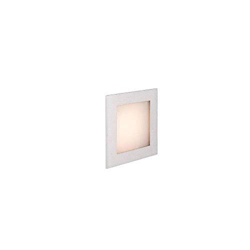 SLV LED Einbauleuchte Frame Basic   Wand- und Deckenleuchte für den Einbau   Eckig, Silber, 2700K Warmweiß   Stilvolle Wandleuchte, Einbau-Strahler LED Treppen-Beleuchtung, Stufen-Licht, Treppenlicht