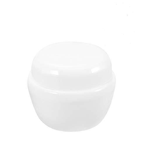 Minkissy 50G Botella de viaje con tapa seta transparente Protable rellenable para cosméticos, antigoteo, botella para champú facial, crema líquida, color blanco
