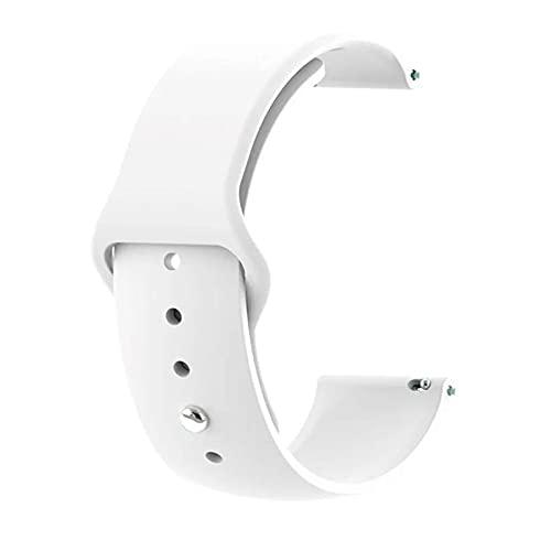 Pulseira Amazfit Gts Bip Bip2 Bip Lite Silicone 20mm Toque Macio [FIT IT] (Branco)
