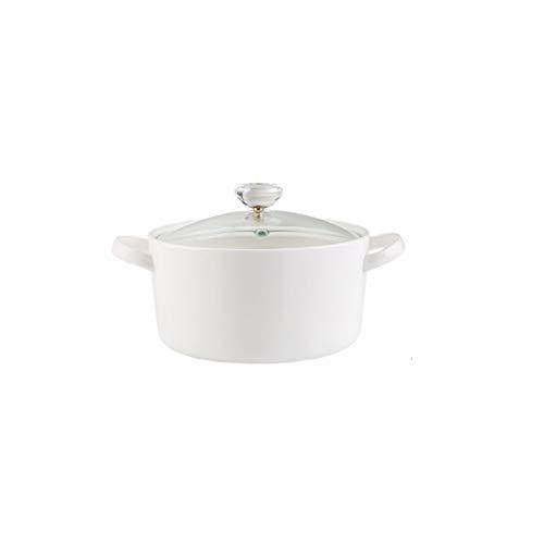 ZLDGYG Tapa la cazuela de cerámica de Cristal del Restaurante Cocina Hogar Llama a Prueba de Calor Sopa de Olla