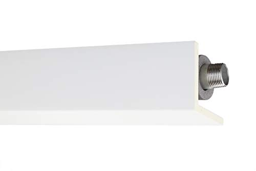 Stuckleiste AB297 | glatte vorgrundierte Oberfläche | Rohr- und Kabelabdeckleiste | Zierprofil | weiß | stabil | PU | 90 x 90 mm | 2 Meter