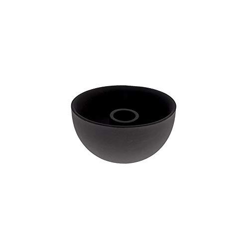Storefactory - Lindatorp - Kerzenständer, Kerzenschale - Keramik - Schwarz - Maße (ØxH): 10 x 5 cm