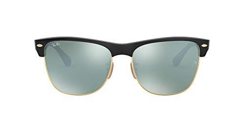 Ray-Ban Clubmaster Oversized Gafas de sol, Demi Shiny Black, 57 para Hombre