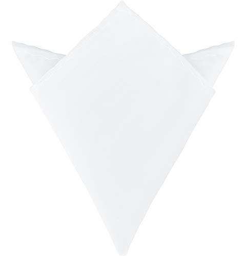 Ladeheid Fazzoletto Taschino Uomo P (22cm x 22cm, Bianco)
