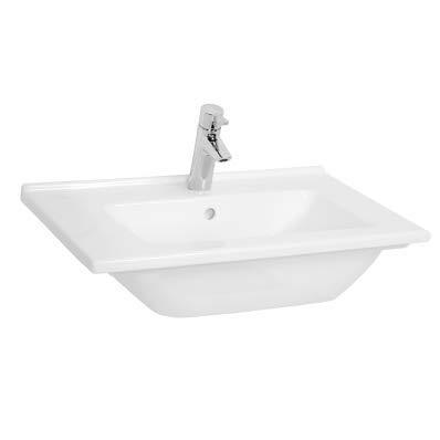 VitrA S50 Waschtisch-Waschbecken, 60 x 46,5 cm, Weiß
