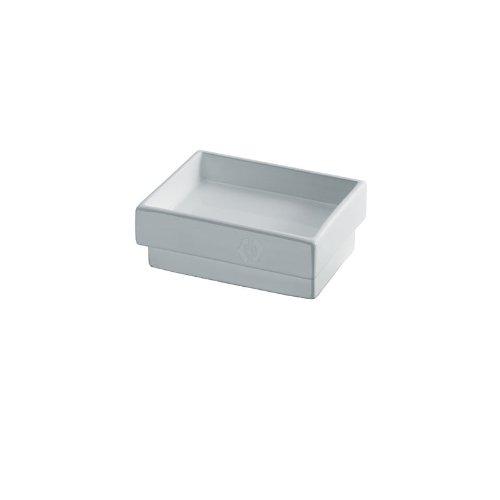 Lineabeta Skuara Seifenschale aus Keramik Mindestmass Wandhalterung 12cm Ausführung: weiß, 52802.09 weiß