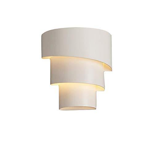 Eco Memos Apliques de Pared Lámpara de Pared de Cabecera Simple para Dormitorio - Iluminación de Tocador E27 con Cortinas Mentales de Tres Capas, Lámpara de Pared Moderna para Dormitorio
