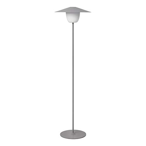 Blomus Mobile LED-Leuchte ANI LAMP FLOOR, Lampe, Aluminium matt pulverbeschichtet, Satellite, 66072