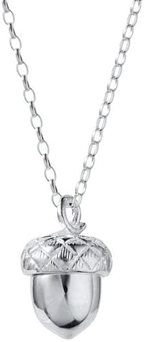 TTYJWDWY Collar De Corazón De Cono De Pino, Colgante Redondo Geométrico Que Se Puede Abrir, Joyería para Mujer, Collar De Cadena De Nuez De Ardilla
