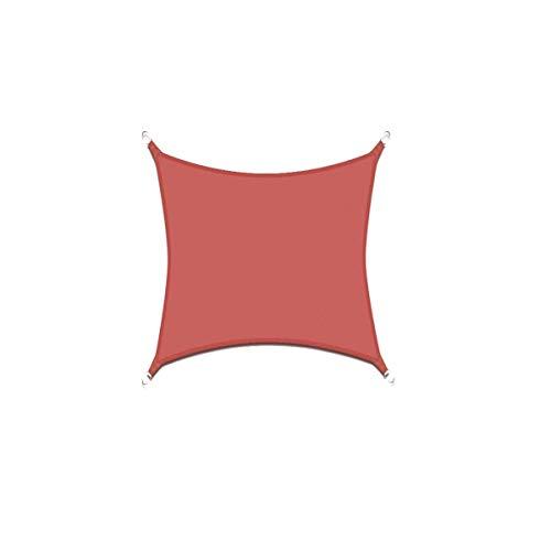 CLJ LWY Parasol para el Sol, toldo, toldo, para Fiestas en el jardín al Aire Libre, Anti UV, Resistente al Agua, Tela Oxford, óxido, Cuadrado Rojo, rectángulo, triángulo (3.6x3.6m)