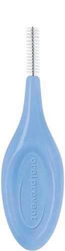 25 Stück: Interdentalbürsten Smart Grip aus biobasiertem Kunststoff - ISO Größe: 4 (blau); Draht: 0,70 mm Ø
