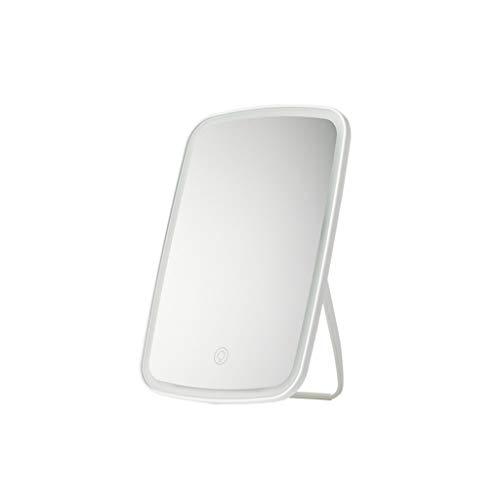 Zdong-spiegel Glow make-up spiegel, tafel spiegel rechthoek in volledige lengte spiegel High Definition plooi-schoonheidsspiegel grootte: 27 * 16,8 cm huis