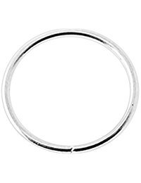 iDeals 316L Surgical Steel Thin Small Nose Ring Hoop for Ear Cartilage Lip Nose, 10mm Silver