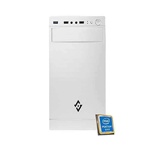 Pc desktop intel Cpu 4,10 GHz,Ram 8Gb Ddr4,Ssd 256 Gb,Lettore masterizzatore cd dvd,Windows 10 Pro Scheda Video Intel Graphics UHD,Computer,Pc assemblato,Pc fisso ufficio casa completo