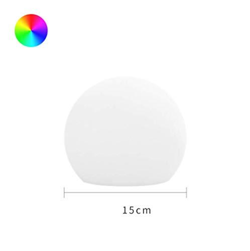 Creatieve bol, verstelbaar, klein nachtlampje, oplaadbaar, tafellamp, decoratie voor thuis, kleurrijk, afstandsbediening, 12 cm