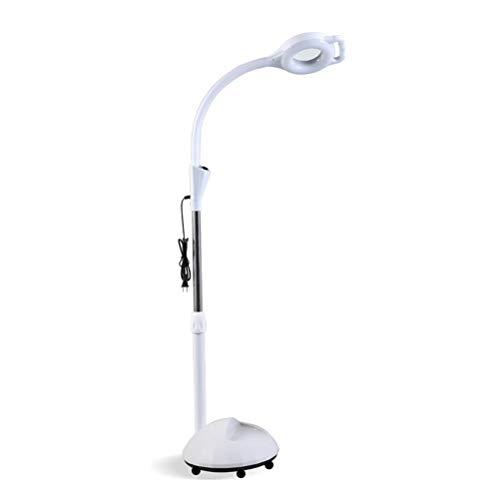 Lampe Loupe LED avec 360 degrés libre rotation, 8X loupe lumière froide hauteur réglable, Shadowless Beauty Nail maquillage lampe,wheel