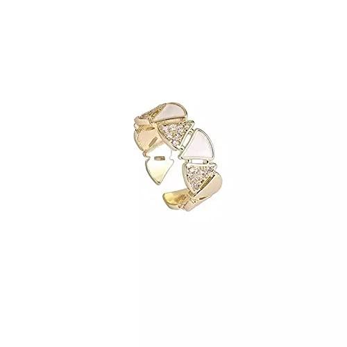 Anillos abiertos de color dorado con triángulo geométrico clásico para mujer, joyería de moda, accesorios de lujo para boda y fiesta para niñas anillo de compromiso Regalo para el amante