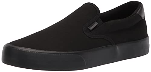 Lugz Men's Clipper Classic Slip-on Fashion Sneaker, Black, 11