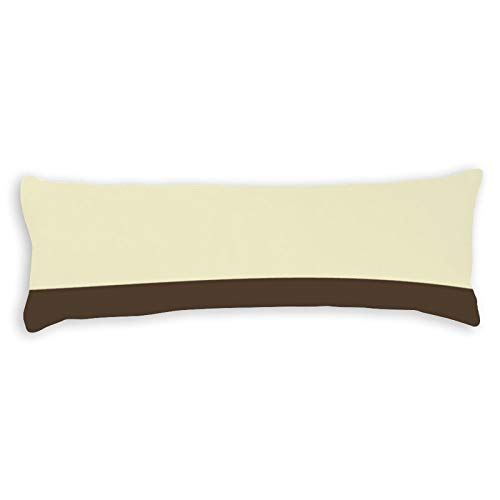 Promini Vintage Orange Grey Yellow Cream Striped Pattern Body Pillow Cover Pillowcases Cushion with Hidden Zipper Closure for Sofa Bench Bed Home Decor 20'x54'