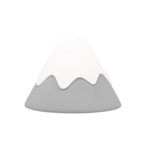 SOLUSTRE Lámpara de Luz Nocturna de Guardería Pequeña Mini Silicona LED Lindo Portátil de Nieve Montaña Ornamentos para Niños Habitación Cama Lámpara de Noche