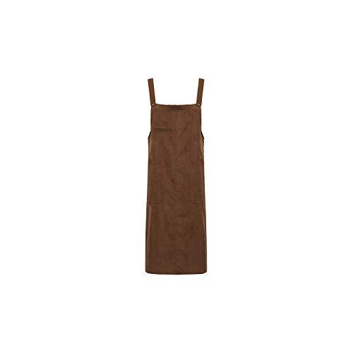 Vintage Corduroy Jurk Vrouwen Casual Strap Vest Slip Jurk Dames Herfst Winter Jurk