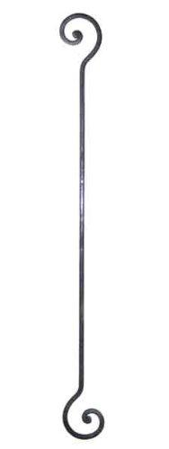 Haken Metall rostbraun Länge 50 cm für Blumenampel