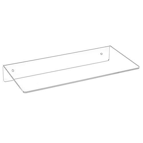 Wandregal 300mm Breit, 150mmTief, aus Acrylgas - Zeigis® / Acrylregal/Wandboard/Wandkonsole/transparent/durchsichtig/Warenpräsentation/klar