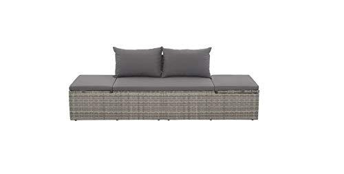 Hanper - Tumbona reclinable gris de jardín ajustable, gris + gris, plegable, gris y ligero, impermeable