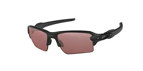 Oakley Men's Flak 2.0 XL, OO9188 (90) Matte Black/Prizm Dark Golf 59mm, Sunglasses Bundle with original case, and accessories (6 items)