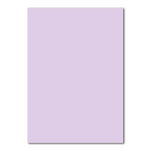 50x DIN A4 Papier Planobogen -Lila - 110 g/m² - 21 x 29,7 cm - Bastelbogen Ton-Papier Fotokarton Bastel-Papier Ton-Karton - FarbenFroh