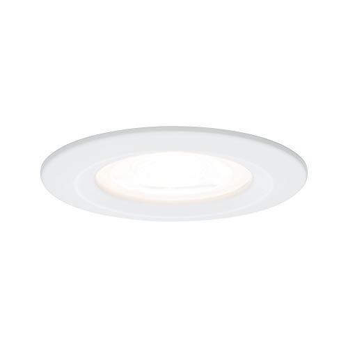 Paulmann 93597 Einbauleuchte LED Nova Einbaustrahler rund Deckenspot 3x7W Einbaulampe GU10 Spot Weiß dimmbar IP44 spritzwassergeschützt Luz empotrable, 7 W, blanco mate