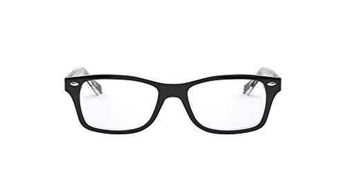 Luxottica S.p.A. Ray-Ban Unisex - Erwachsene Brillengestell RY1531, Schwarz (Top Black On Transparent),